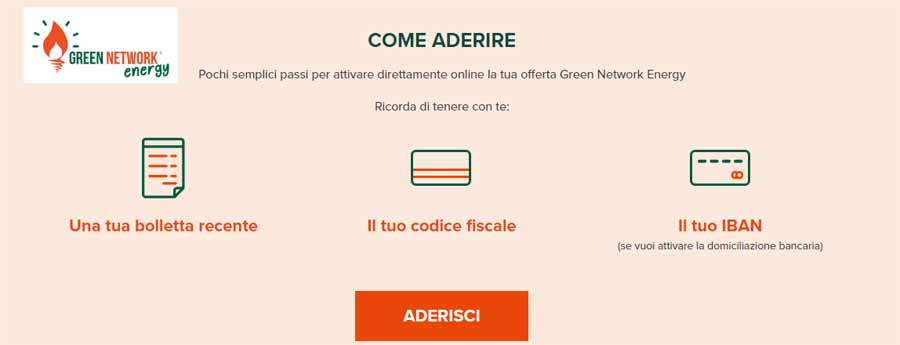 Come passare a green network energy luce e gas